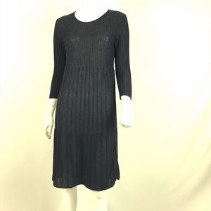 Eileen Fisher Ribbed Knit Wool Dress